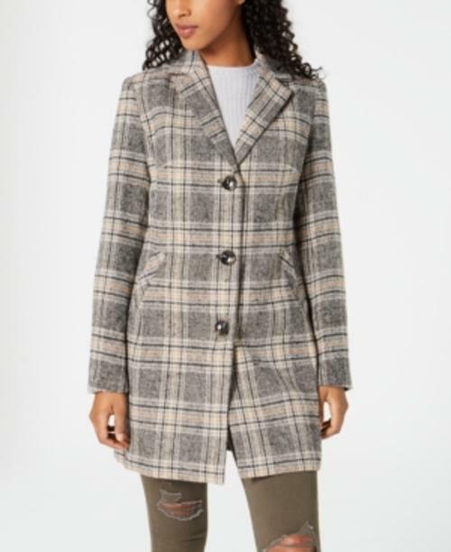 MSRP Maralyn & Me Juniors' Plaid Walker Coat Size 2XL