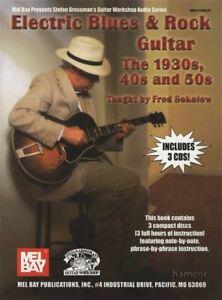 Electric Blues & Rock Guitar Le 1930 S, 40 S & 50 S Tab Music Book & 3cds-afficher Le Titre D'origine Faire Sentir à La Facilité Et éNergique