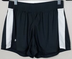 Under-Armour-Women-039-s-Running-Workout-Athletic-Shorts-Black-White-Size-MD