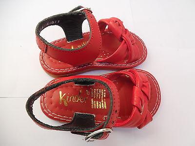 Kleinkind Sandalen - echtes Leder rot , Größe 19