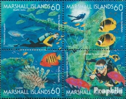 MarshallIslands 869872 block of four complete.issue. fine used cancelled 1