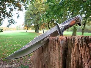 Jagdmesser-Messer-Knife-Bowie-Buschmesser-Damast-Cuchillo-Hunting-Neu