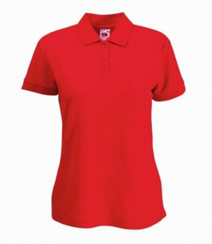 3-Pack Fruit of the Loom Women/'s Plain Short Sleeves Lady Fit Piqué Polo Shirt