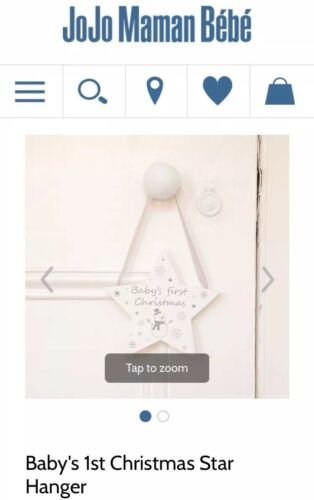 Baby's First Christmas Star Decoration JoJo Maman Bebe NEW