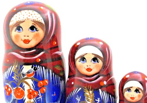 "COLLECTIBLE RUSSIAN NESTING DOLL 5 PCS LARGE 7"" Tall"