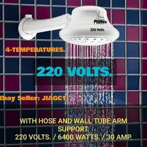 Electric Shower Head Instant Hot Water Heater Plomex 4 Temp 220v 6400w Ebay