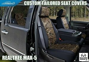 REALTREE MAX 5 CAMO CUSTOM FIT SEAT COVERS FRONTS For