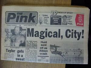 28091985 Coventry Evening Telegraph Newspaper Coventry City v West Bromwich A - Birmingham, United Kingdom - 28091985 Coventry Evening Telegraph Newspaper Coventry City v West Bromwich A - Birmingham, United Kingdom