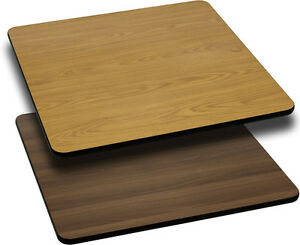Flash Furniture 24 Square Table Top w/Natural Or Walnut Reversible Laminate Top