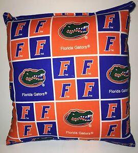 Florida-Gators-Pillow-Football-Pillow-Gators-Pillow-NCAA-HANDMADE-In-USA
