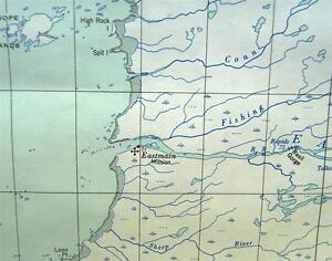 Quebec Topographic Map.Canadian Government Topographic Map Eastmain Quebec Quadrant 1952