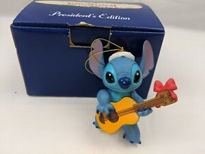 Stitch-Playing-Guitar-Disney-Grolier-President-Ed-CHRISTMAS-Ornament-MINT-Lilo