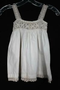 VERY-RARE-ANTIQUE-EDWARDIAN-ERA-CHILD-039-S-COTTON-AND-CROCHET-DRESS-18-MONTHS