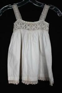 Analytique Très Rare Antique Edwardian Era Pour Enfants Coton Et Robe Crochet 18 Mois