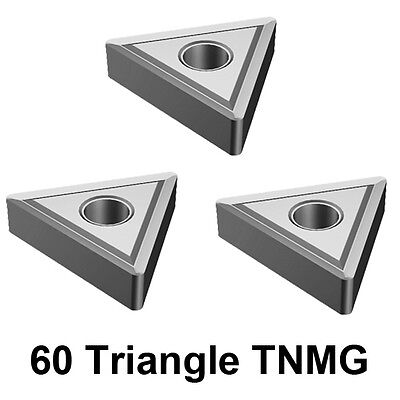 3Pc Replacement Indexable Carbide Tip 12mm 16mm Holder, 60 Triangle TNMG Insert