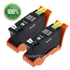 2pk Black Ink Cartridge for Dell Series 21 22 23 24 V515w V313w V313