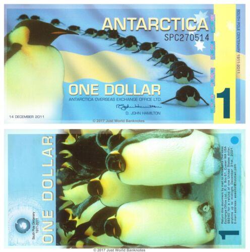 Antarctica 1 Dollar 2011 Polymer Banknotes UNC