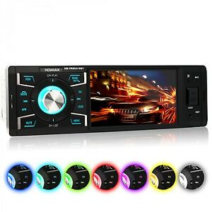 RADIO-DE-COCHE-CON-PANTALLA-BLUETOOTH-MANOS-LIBRES-USB-MICRO-SD-AUX-IN-MP3-1DIN