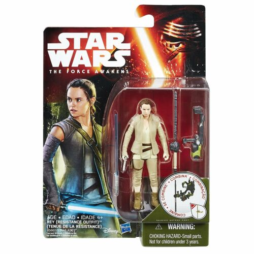 """3.75/"""" Action Figure MOC NEW STAR WARS The Force Awakens Rey Resistance Outfit"""