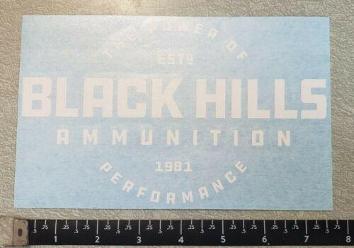 Black Hills Ammunition White Peel N/' Stick OEM Original Decal Sticker