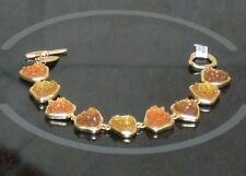 Coldwater Creek Amber Gold Tone Bracelet