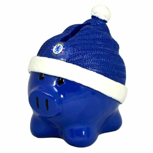 Chelsea Beanie Piggy Bank Official Football Money Saving Box Gift