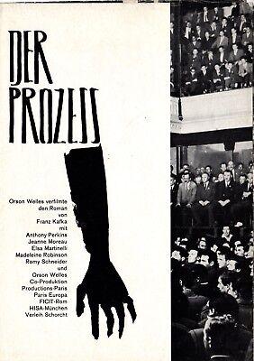 Film-fanartikel Filme & Dvds Jeanne Moreau Sparen Sie 50-70% Freundschaftlich Der Prozess Le Procès The Trial Werberatschlag Anthony Perkins