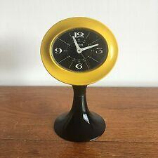 Original Vintage 1960s 1970s Space Age Alarm Clock. Panton Eames Tulip Design.