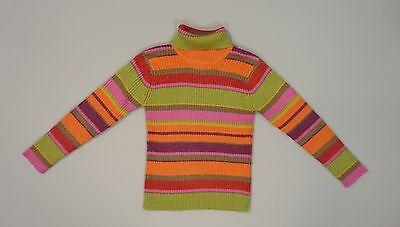 Pull tricot col roulé rayé multicolore Catimini 4 ans fille