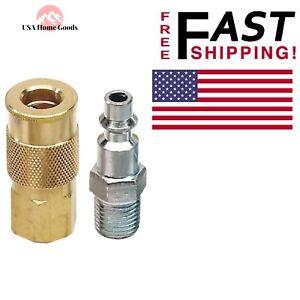 Coupler-plug-1-4-034-Air-Hose-Air-Compressor-Body-Line-Set-Corrosion-Resistant