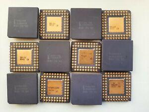 Intel TA80188 80188 80186 16bit 8MHz rare extended temp Vintage CPU GOLD