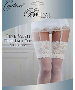 Bridal-Fine-Mesh-Deep-Lace-Top-Stockings-By-Couture