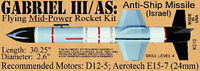 Gabriel Iii/as Missile Flying Model Rocket The Launch Pad K010 Skill Level 4