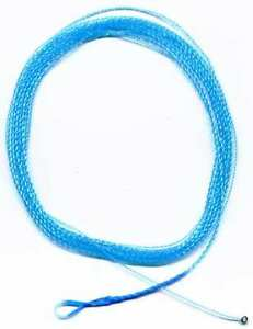 NEW-Wonderfurl-Electric-BLUE-Furled-Fly-Fishing-Leader-WITH-Ring