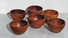 mid century danish design Holz Schüssel 6 Teak Schüsseln vintage bowl set ~60's