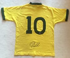 Pele Signed Vintage Brazil World Cup Yellow Jersey #10 Auto COA RARE