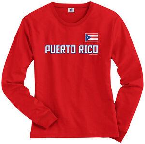 huge discount f54a8 9bbbf Threadrock Women's Puerto Rico National Team Long Sleeve T ...