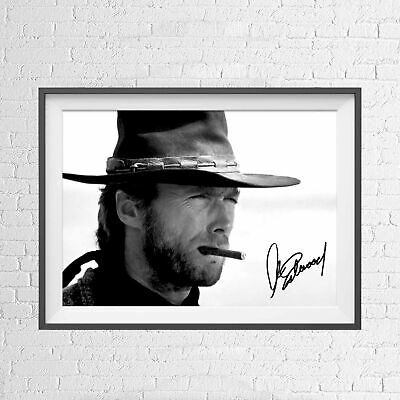 CLINT EASTWOOD HOLLYWOOD MOVIE STAR POSTER PICTURE PRINT Sizes A5 to A0 **NEW**