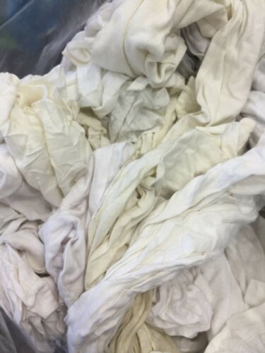 White Polo Rags T-shirt Cleaning Rags Compressed Bag 20 LBS