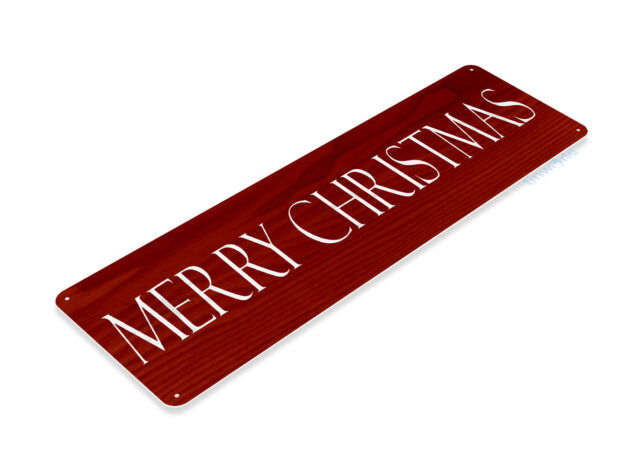 TIN SIGN Merry Christmas Red Metal Décor Art Holiday Santa Store Shop A970