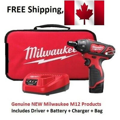 Milwaukee 2401-21 M12 12-Volt Lithium-Ion Cordless 1/4 in. Hex Screwdriver Kit