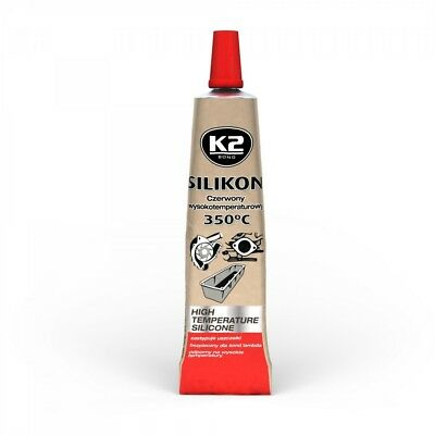 K2 Silikon Silikon Hochtemperatur Dichtmasse 350° Rot 21g Auto-anbau- & -zubehörteile Sonstige