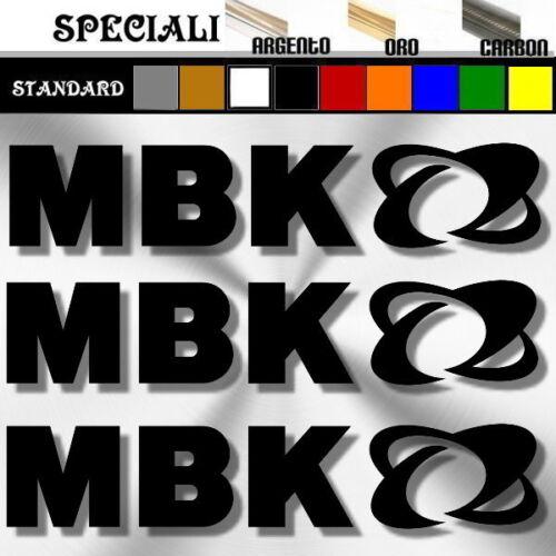 3 adesivi sticker MBK booster prespaziato scooter,casco,decal 15cm