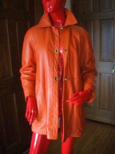 Bonnie Cashin Sills MOD Orange Leather Coat Vintag