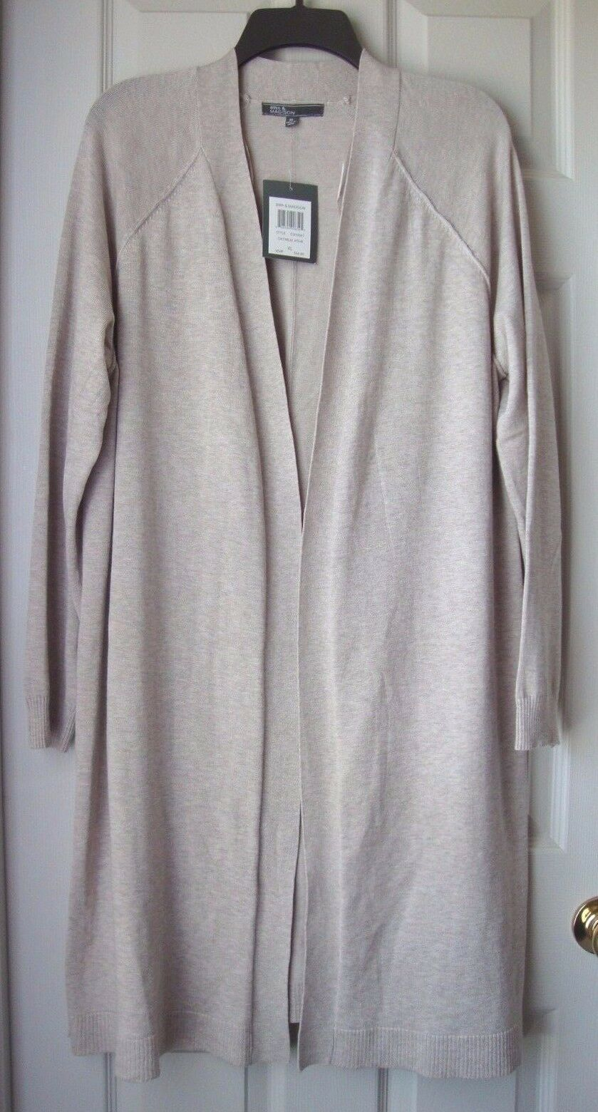 New 89th & Madison Women Long Sleeve Open Front Long Cardigan Variety color