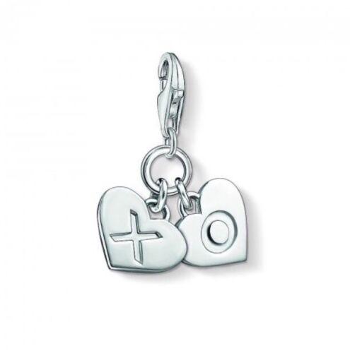 abrazos y besos del encanto del corazón 1314 RRP £ 35 Nuevo Thomas Sabo plata esterlina /'Xo/'