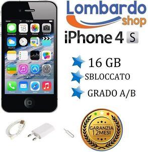 APPLE-IPHONE-4S-16GB-NERO-GRADO-AB-ORIGINALE-RIGENERATO-RICONDIZIONATO-USATO