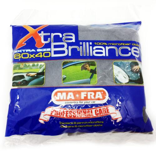 XTRA BRILLANCE panno microfibra 60x40 pulizia asciugatura auto moto barca MA-FRA