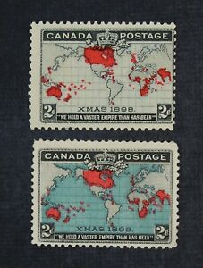 CKStamps: Canada Stamps Collection Scott#85 Victoria Mint 1H OG #86 NG