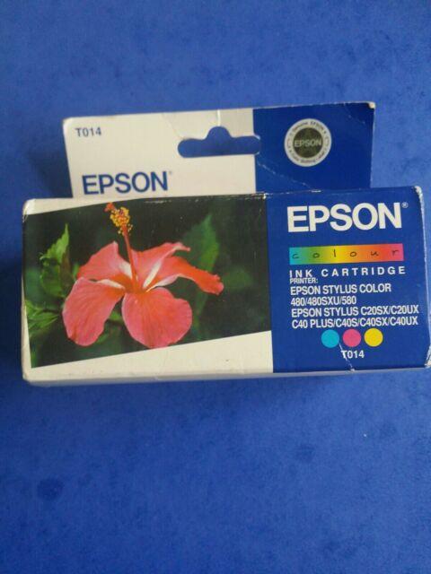 Genuine Epson Original TO14 Multi Colour Inkjet Printer Cartridge C40 C40UX C40S